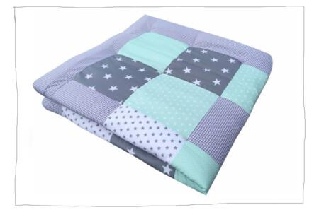 Crawling blanket – gray mint