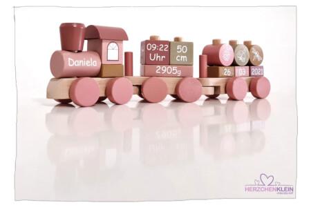 Steck – Holzzug rosa flowers