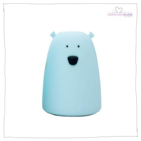 Süße Nachtlampe Bär – blau