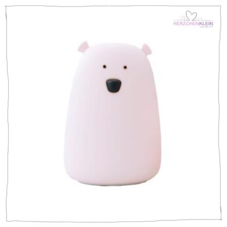 Süße Nachtlampe Bär – rosa