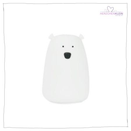 Süße Nachtlampe Bär – weiss