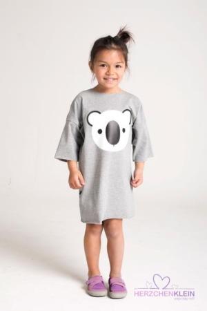 Fluoreszierendes Kleid Koalabär – grau