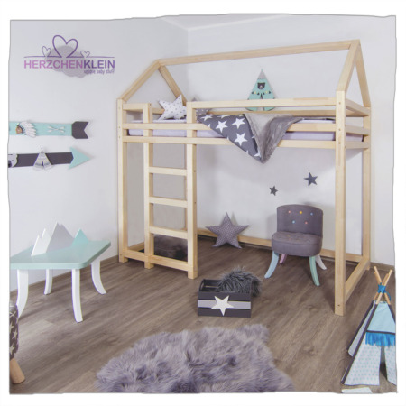 Hausbett – Hochbett Nesty