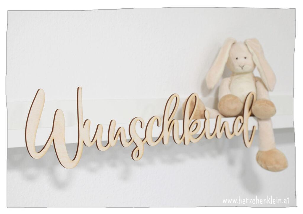 Herzchenklein Namensschild Holzschild mit Wunschname