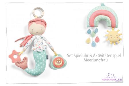 2er Set Spieluhr Regenbogen + Aktivitäten Spiel Meerjungfrau