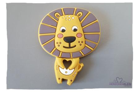 Baby Silikon Beissring Löwe- gelb